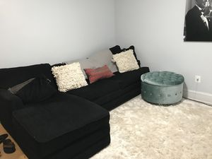 Black Comfortable Sectional for Sale in Boston, MA
