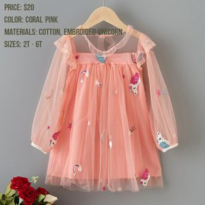 Brand new embroidery unicorn coral baby kid dress for Sale in Federal Way, WA