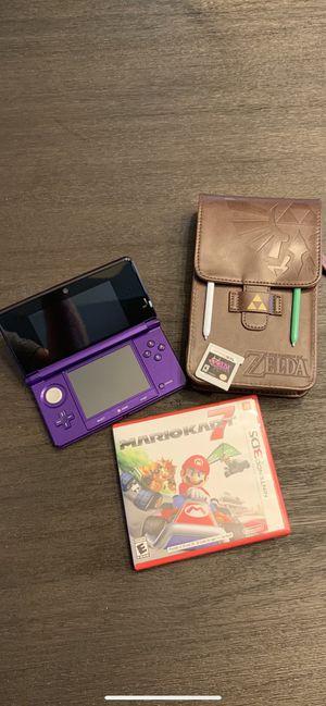 Rare Midnight Purple Nintendo 3DS Bundle for Sale in Edmonds, WA