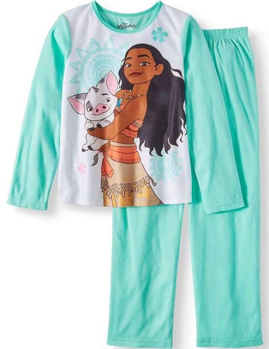 Moana Disney fleece pajamas size 4/5