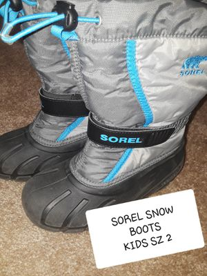 SOREL SNOW BOOTS SZ 2 BIG KIDS for Sale in Surprise, AZ