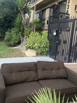 Chocolate Brown Couch Small Sectional for Sale in Los Angeles,  CA