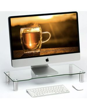Clear Computer Monitor Riser with Height Adjustable Multi Media Desktop Stand for Sale in Silverado, CA