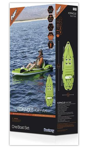 Bestway Hydro Force Koracle Inflatable Kayak Boat Set with Oar Paddle Pump NEW for Sale in Glenview, IL