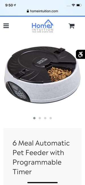 6 trey automatic pet feeder with programmer Clock and timer for Sale in Tiverton, RI