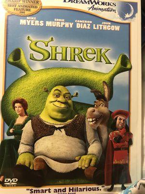Children's DVD's very good condition.Shrek,Shrek 2,finding Nemo. $10.00 each or all three for $25.00 pick up for Sale in Newport News, VA