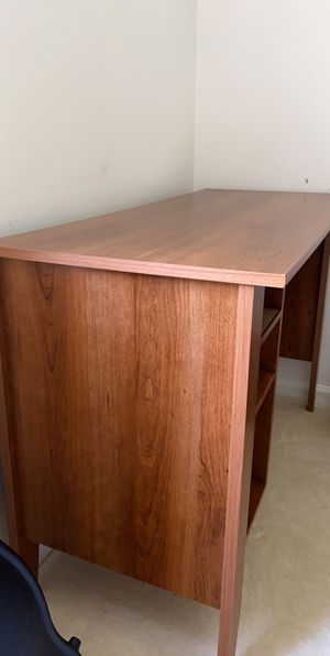 Dark wood desk set for Sale in Charlottesville, VA
