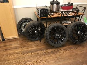 "16""x7"" Enkei EDR9 (Matte Black) Rims 4x100 & 4x108 (441-670-1138BK) +38 offset laced to General G-Max AS-03 195/50R16 84W BSW Tires for Sale in Washington, DC"