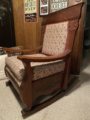 Antique Early 18th Century Cherry Wood Rocking Chair for Sale in Richardson, TX