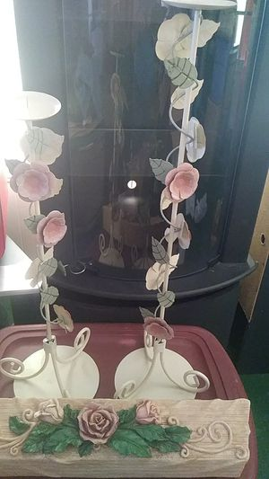 Two candle holder with shelve for Sale in Port St. Lucie, FL