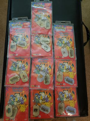 Complete Pokemon Dog Tag Set Of 10 for Sale in Spanaway, WA