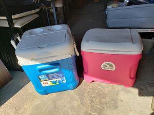 Lot of 4 beach /outdoor coolers for Sale in Providence, RI