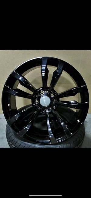 """Bmw 20"""" new blk new m style rims tires set for Sale in Hayward, CA"""