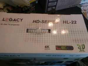 Brand new Legacy Cinema Innovation HL-22 Home Cinema Projector + 3D HD Projector Screen for Sale in Alexander, AR