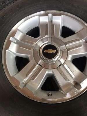 """Chevy 18"""" Texas Edition stocks and Toyo tires for Sale in Dinuba, CA"""