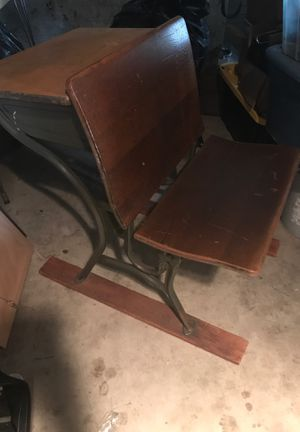 Antique School Desk from Annie Wright with inkwell! for Sale in Tacoma, WA