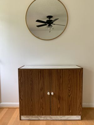 Upcycled Vintage Faux Marble Retro Two Door Dresser Wood Cabinet for Sale in Hendersonville, TN