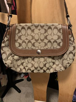 LARGE AUTHENTIC LEATHER & C pattern 👜 Shoulder Bag Purse Hand *REAL* 👜 for Sale in Cape Coral, FL