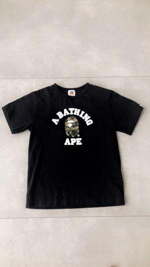 Bape A Bathing Ape Black Tee Kids Size 140 for Sale in Miami, FL