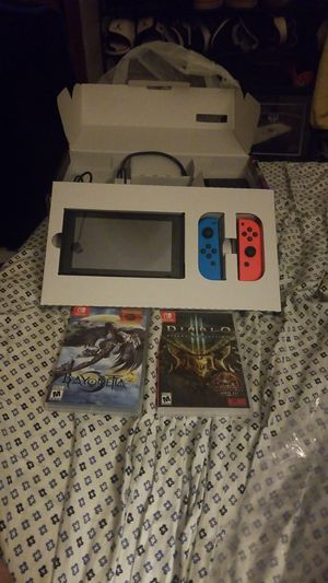 Nintendo switch with games for Sale in Fall River, MA
