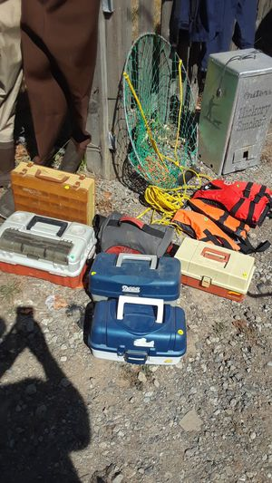 Tackle boxes, crab ring, life jackets for Sale in Aloha, OR