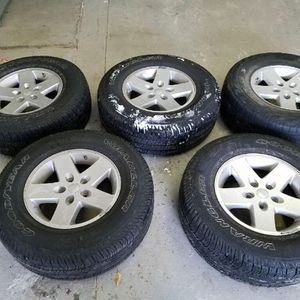 Jeep Wrangler Goodyear Wheels And Tires for Sale in East Greenwich, RI
