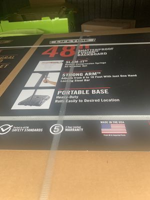"""Lifetime 48"""" basketball hoop Brand NEW in box for Sale in Sherwood, OR"""