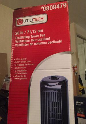 """Utilitech 28"""" tower fan 3 speed new in box for Sale in Cherry Hill, NJ"""