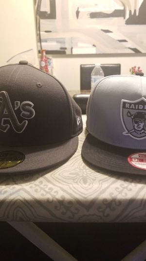 Oakland Athletics hat and Oakland Raiders hat for Sale in Denver, CO