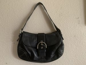 Genuine Leather Black Coach SOHO bag for Sale in Oceanside, CA