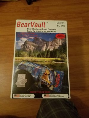 BearVaultBV500 Food Container for Sale in Imperial Beach, CA