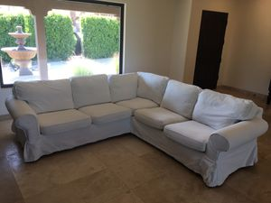 White Sectional Couch Sofa for Sale in Palm Desert, CA