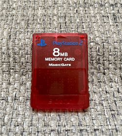 Sony Playstation 2 PS2 SCPH-10020 8GB Memory Card Red Tested for Sale in Fresno,  CA