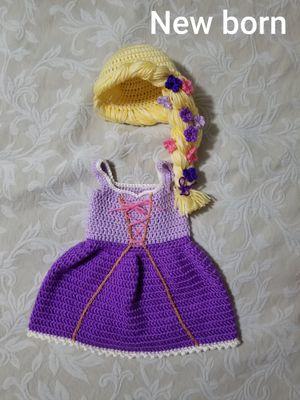 crochet baby rapunzel costume for Sale in League City, TX