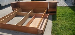 Mid Century Danish Floating Teakwood Bed Frame for Sale in San Diego, CA