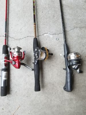 2 Ugly Sticks & 1 Zebco Fishing Rods for Sale in Nashville, TN
