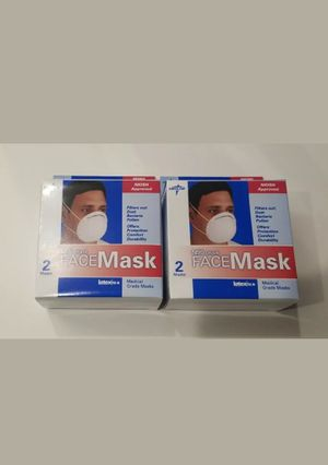 4 total Medline N95 Grade Face Mask with loop Flu-Fighter Flu Mask - Anti-Viral Face Cover Protection - Cold, Virus, for Sale in Los Angeles, CA