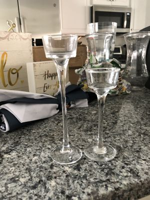 Large medium small candle holders for Sale in Beltsville, MD