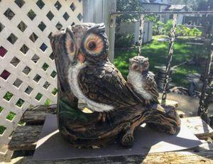 Owl Concrete Yard Ornament for Sale in Bloomington, IL