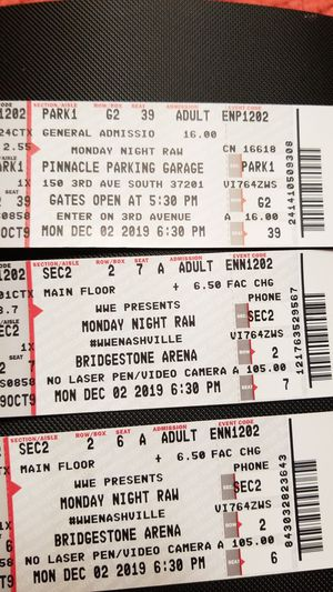 Wwe tickets for Sale in Nashville, TN