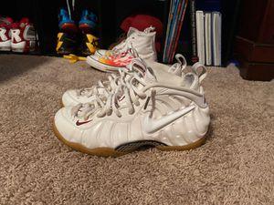 Nike Gucci Foamposite white size 9 for Sale in Tacoma, WA