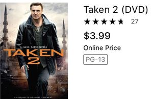 Taken 2 movie drama action dvds movies for Sale in Glendale, AZ
