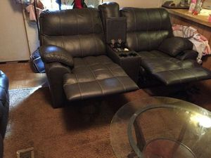 black leather living room set for Sale in Belleview, FL