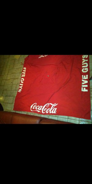 Big big coca cola unmbrella tent selling $25 firm needs four sticks to put on each corner for Sale in Miami, FL