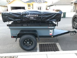 """Custom set up- FSR High Country 80"""" Tri-Layer roof top tent mounted on TREX300 Expedition Trailer for Sale in Bend, OR"""
