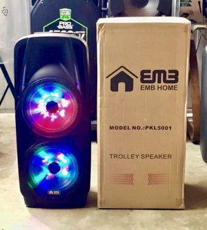Speaker Bluetooth,radio,2🎤🎤inalámbrico,karaoke,recargable para la playa😎,USB,AUX,luz LD for Sale in Miami Springs, FL