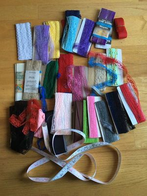 Lot of 30+ Lace sewing trims and blanket binding for Sale in Steilacoom, WA