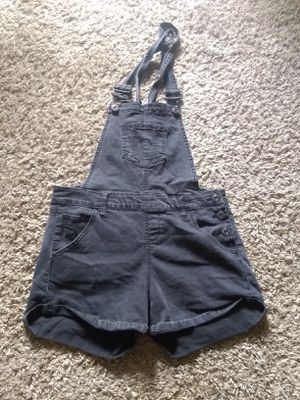 Overall shorts size large black for Sale in Costa Mesa, CA