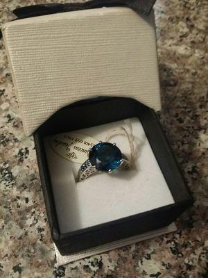 14kt London Blue Topaz & Blue Diamond Ring 4+grams for Sale in PT CHARLOTTE, FL