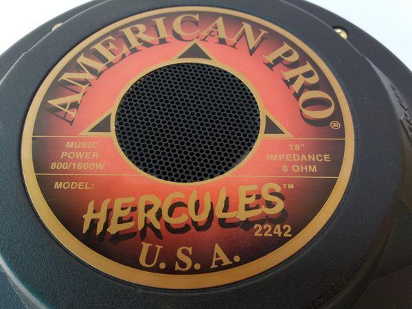 American Pro 18 inch 800 watt Hercules 2242 pro audio subwoofer speaker